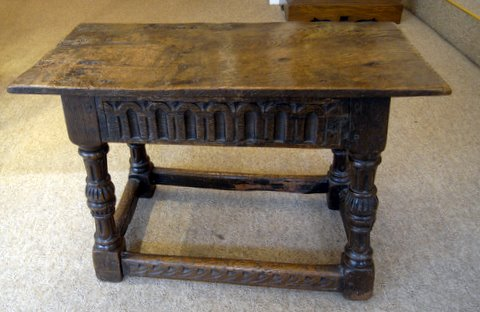 Click here to see more detail of an 18th century oak joint stool