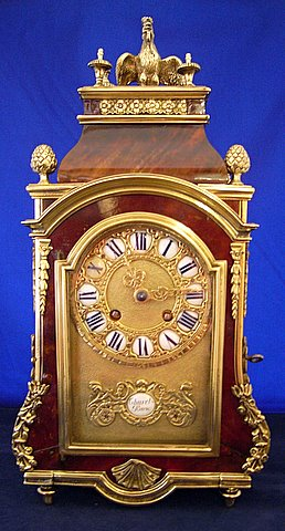 Click here to see more detail of a 19th century French Religious Boulle bracket clock