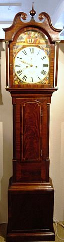 19th century Scottish longcase mahogany inlaid case