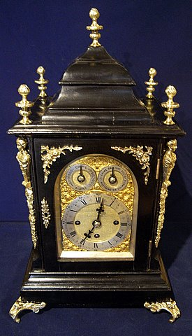 19th century musical bracket clock Westminster Cambridge chimes