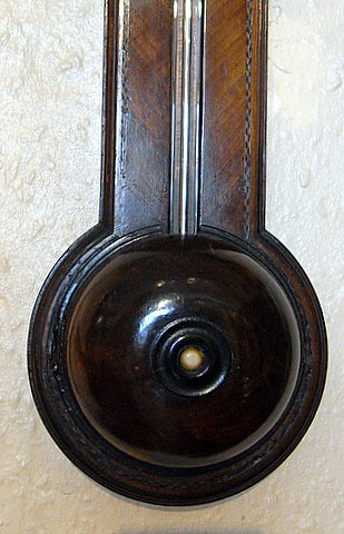 19th century stick barometer Geo Flote Islington - foot