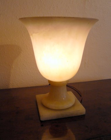 PLease click here to see more detail of an Alabaster uplighter
