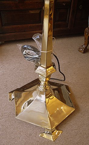 Art Nouveau brass standard lamp - base