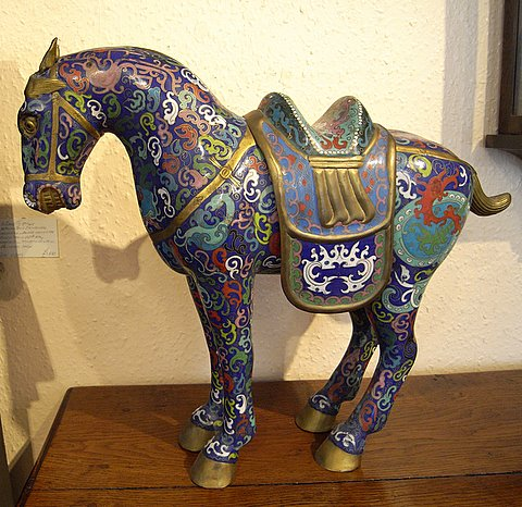 Click here to see more detail of a Chinese saddle horse