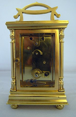 French Art Nouveau carriage clock - rear