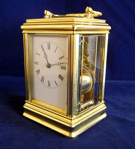 Click here to see more details of a French carriage clock by Drocourt of Paris
