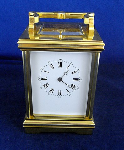 French carriage clock two train eight day