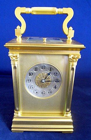 Click here to see more detail of a gilt French carriage clock