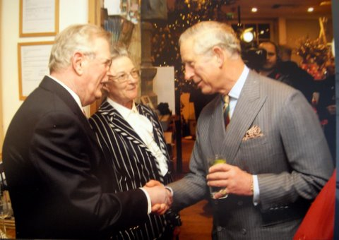 Peter and Lorna with Prince Charles 2012 #1
