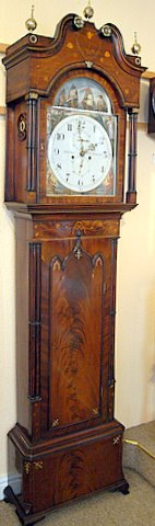 Victorian Gothic Revival automata longcase